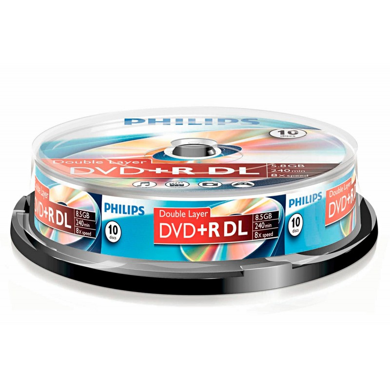 Philips (8,5 GB) Recordable DVD Dual /Double Layer