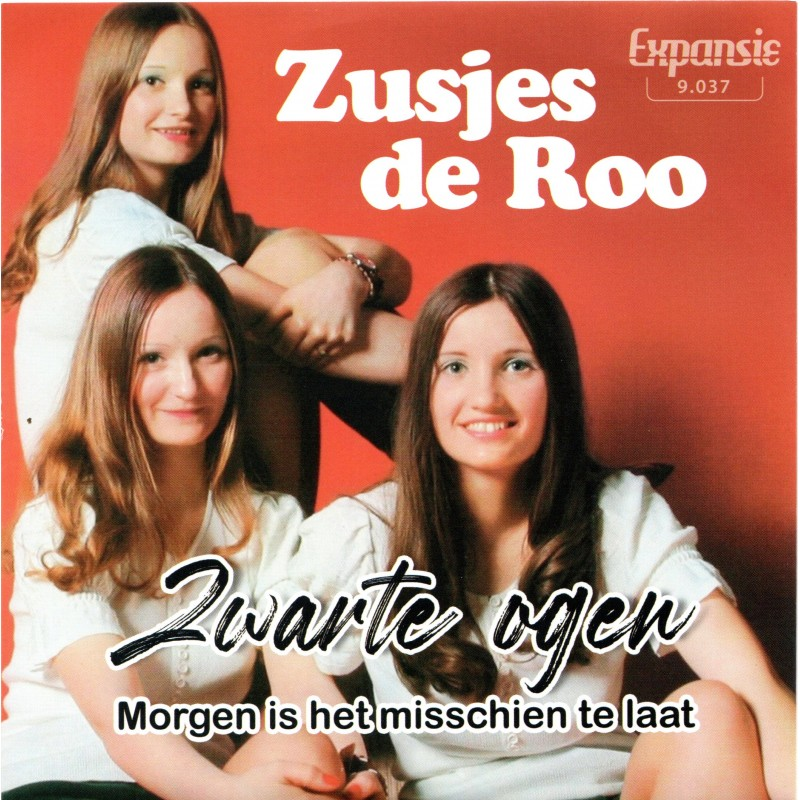 """7"""" Zusjes De Roo - Zwarte Ogen"""