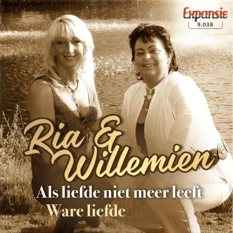 """7"""" Ria en Willemien - Als Liefde Niet Meer Le..."""